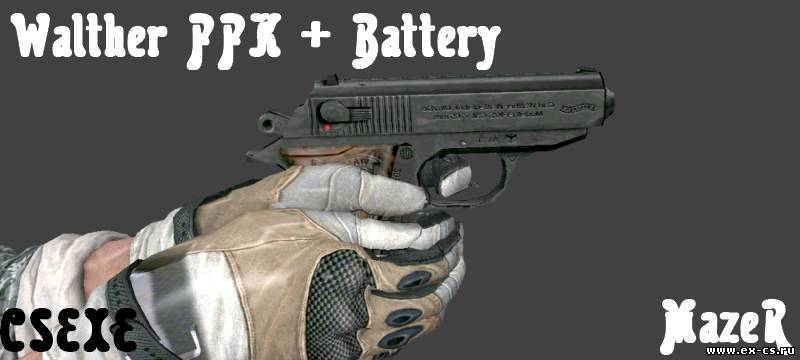 Walther PPK + Battery Hands